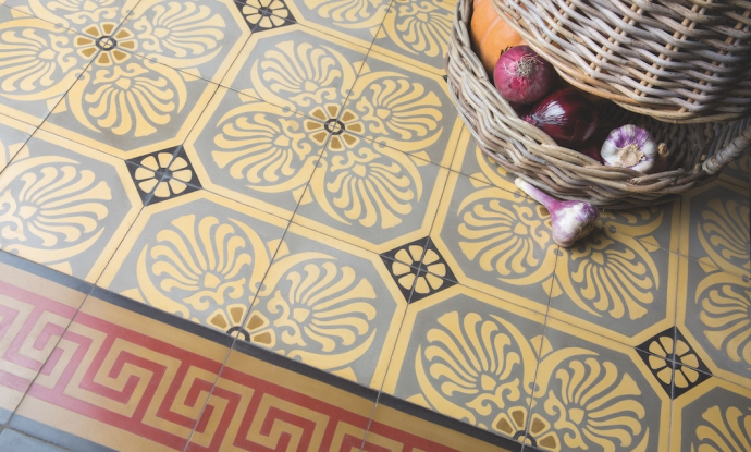 Art Noveau - floor tiles